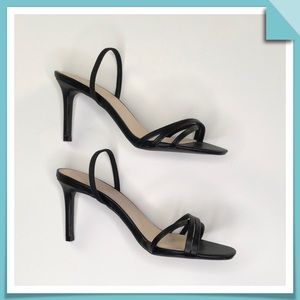 Qupid  Black Strappy Sandals Size 8